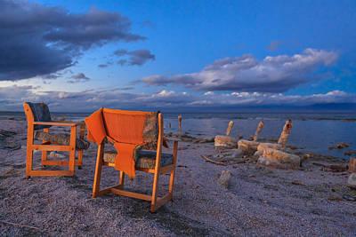 Orange Photograph - Smoke Break In The Ruins by Scott Campbell