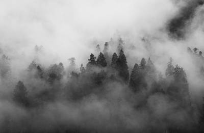 Solitude Photograph - Smoke On The Mountain by Aaron S Bedell