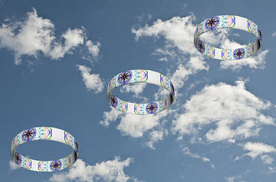 Smoke Rings In The Sky 2 Print by Steve Purnell