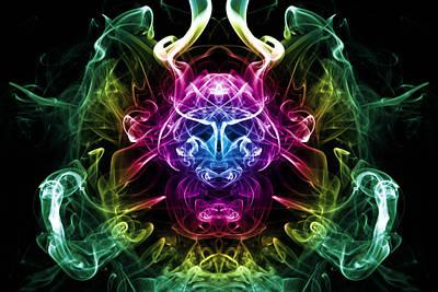 Smoke Warrior Print by Steve Purnell