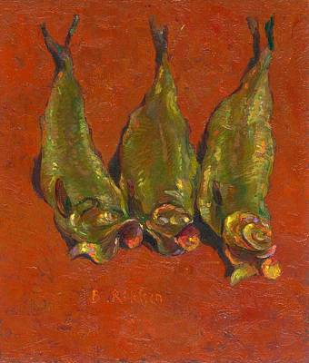 Still Life With Fish Painting - Smoked Herring by Ben Rikken