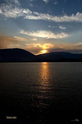 Lake Photograph - Smokey-002 Sunset Over Skaha Lake by Guy Hoffman