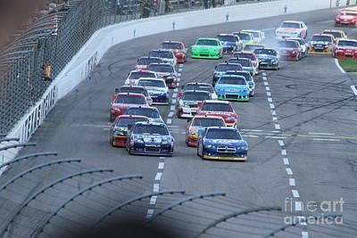 Racetrack Digital Art - Smokey Start by L L L