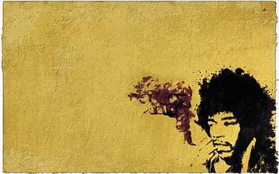 Jimi Hendrix Painting - Smoking Jimi by Florian Rodarte