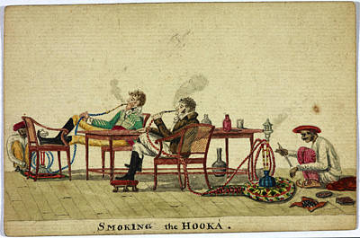 Smoking The Hooka Print by British Library