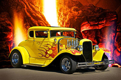 Ford Street Rod Photograph - Smok'n Hot Coupe by Dave Koontz