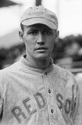 Boston Red Sox Photograph - Smoky Joe Wood - Boston Red Sox 1914 by Mountain Dreams
