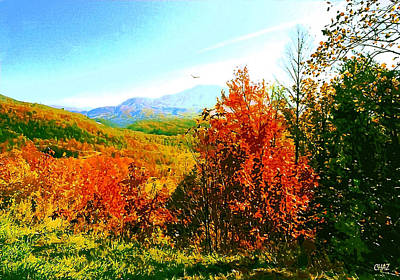 Smoky Mountain Autumn Print by CHAZ Daugherty