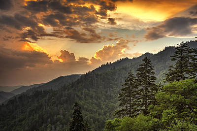 Valley Photograph - Smoky Mountain Sky by Andrew Soundarajan