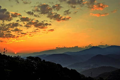 Smoky Mountain Sunrise Print by Frozen in Time Fine Art Photography