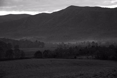 Smoky Mountains Black And White Print by Dan Sproul