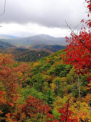 Smoky Mountains In The Fall Print by Dan Sproul