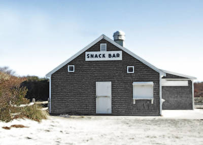 Snack Bar Off-season No. 2 Print by Brooke Ryan