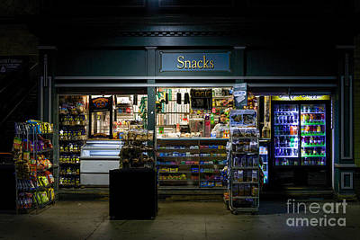 Snack Shop Print by Jerry Fornarotto