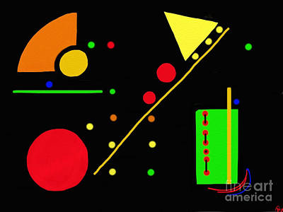 Artrage Painting - Snack Time II by Anita Lewis