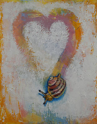 Shell Texture Painting - Snail by Michael Creese