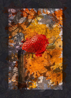 Strawberries Digital Art - Snail Sory - S20-01bb by Variance Collections