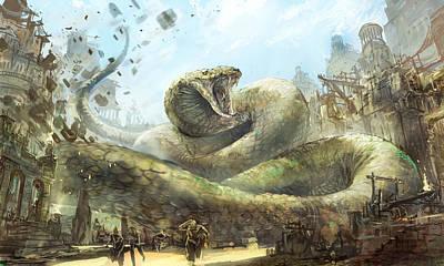 Boa Constrictor Digital Art - Snake Charmer by Jeff Brown