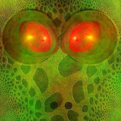 Salamanders Digital Art - Snake Eyes by Diane Parnell