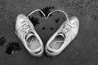 Sneaker Heart Print by Pat Bourque
