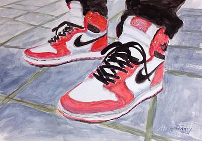 Nike Painting - Sneakers by Stan Tenney
