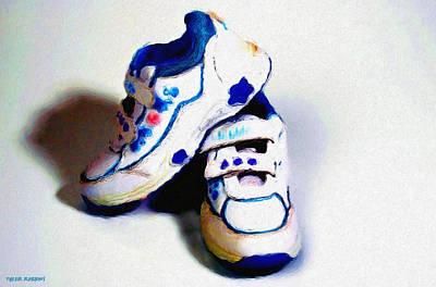 Sneakers Mixed Media - Sneakers by Tyler Robbins