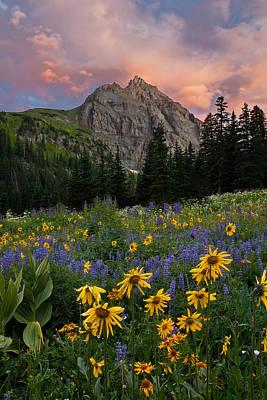 San Juan Mountain Range Photograph - Sneffels Wilderness Sunrise by Guy Schmickle