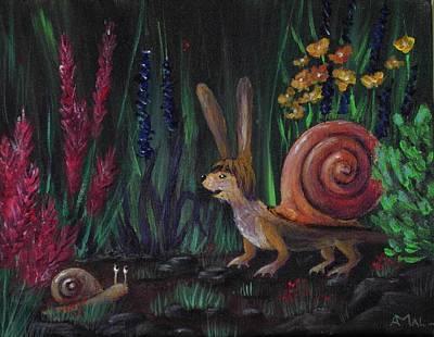 Snellius Fluffius Print by Anastasiya Malakhova