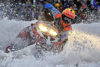 Snowmobile Photograph - Sno-cross 2 by Wade Aiken