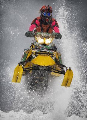 Snowmobile Photograph - Sno-cross by Wade Aiken