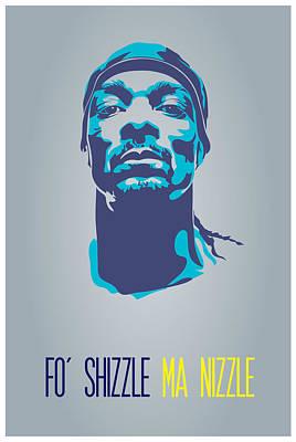 Rap Digital Art - Snoop Dogg Poster Art by Florian Rodarte