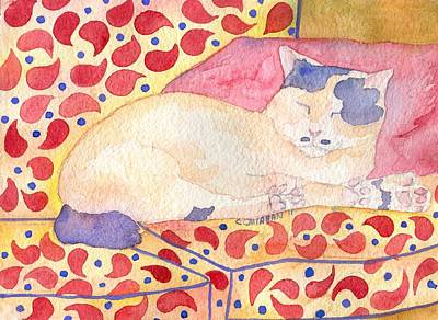 Turkish Van Cat Painting - Snoopy by Christine Callahan