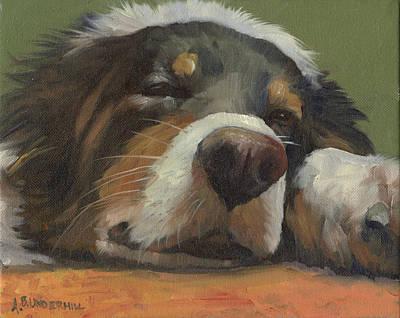 Snoozing Print by Alecia Underhill
