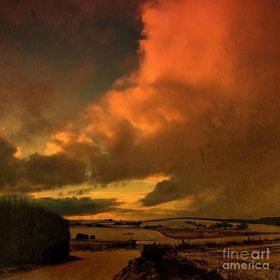 Liz Alderdice Photograph - Snow And Fire by Liz  Alderdice