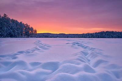 Snow And Sky Print by Darylann Leonard Photography