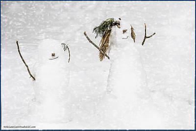 January Photograph - Snow Blind Couple by LeeAnn McLaneGoetz McLaneGoetzStudioLLCcom