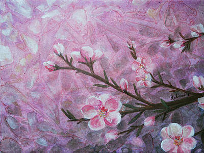 Cherry Blossoms Painting - Snow Blossom by Arlissa Vaughn