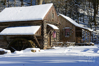 Mill In Woods Photograph - Snow Bound by Paul Ward