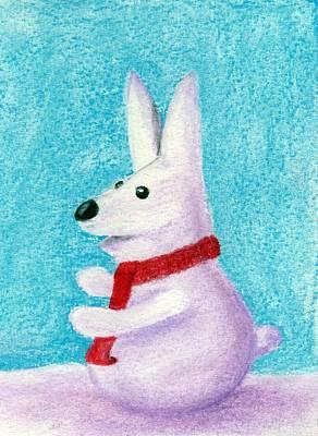 Snow Bunny Print by Anastasiya Malakhova