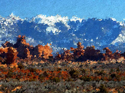 Mountain Painting - Snow Capped Mountains In The Desert by Bruce Nutting