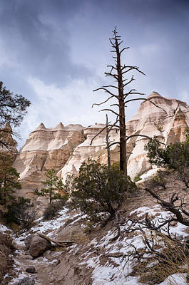 Snow Cloud Over Kasha Katuwe Tent Rocks Print by Ellie Teramoto