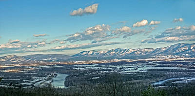 River Scenes Photograph - Snow Covered Blue Ridge by Lara Ellis