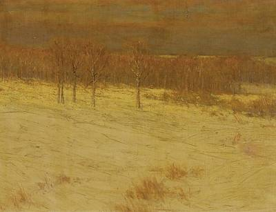 Field Painting - Snow Covered Fields by Celestial Images