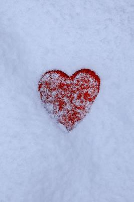 Snow-covered Heart Print by Joana Kruse