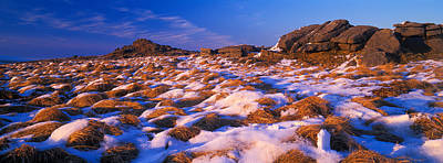 Snow Covered Landscape, Dartmoor Print by Panoramic Images