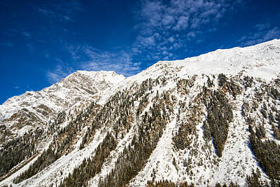 Winter Landscape Photograph - Snow-covered Mountain In Winter Pitztal Austria by Matthias Hauser