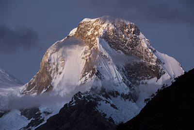 Mountain Photograph - Snow-covered Peaks Huscaran Mountain by Cyril Ruoso
