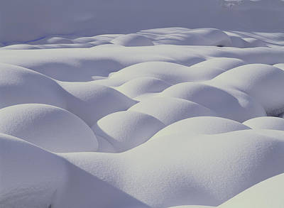 Snow Drifts Hokkaido Japan Print by Masami Goto