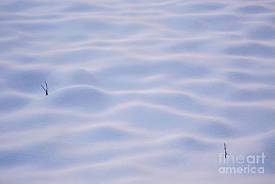 Snow Dunes In Yosemite California Print by Julia Hiebaum
