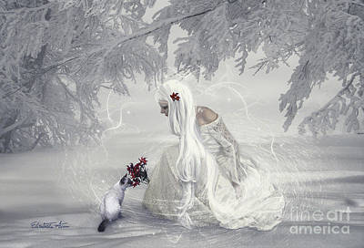 Elisabetta Artusi Digital Art - Snow Fairy by Betta Artusi